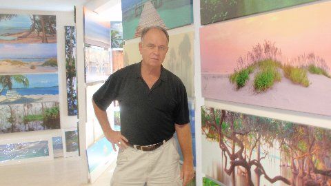 Critical Linkages Photographer Steve Vaughn at his Topics Gallery in Winter Park, Florida.