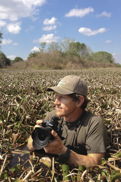 Critical Linkages Photographer Carlton Ward, as seen by Joe Guthrie on the Florida Wildlife Corridor Expedition.