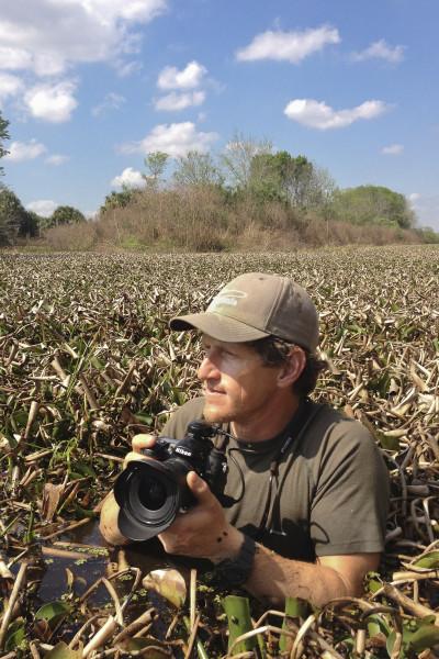 Critical Linkages Photographer Carlton Ward, as seen by Joe Guthrie on the Florida Wildlife Corridor Expedition.