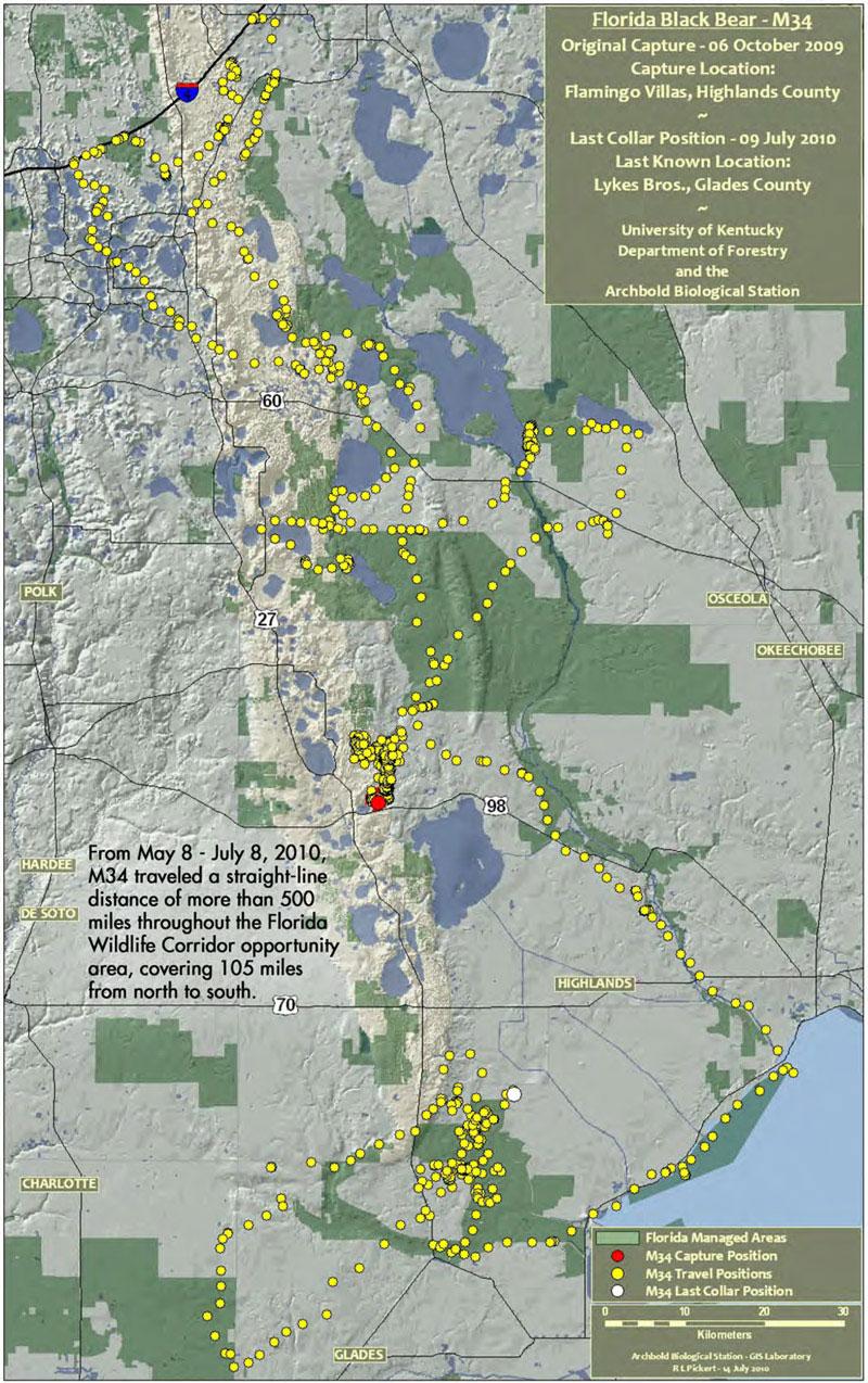 bear trek map